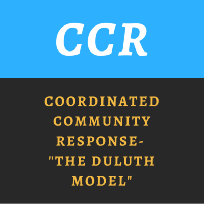 "Coordinated Community Response- ""The Duluth Model"""